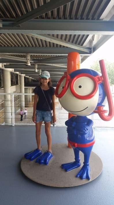 Karen et Vasco, la mascotte de l'océanarium